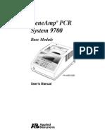 Applied Biosystems GeneAmp 9700 - User Manual