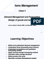 OM Forecasting and Design Dm 2011