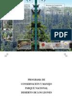 Programa de Conservación y Manejo parque Nacional Desierto de los Leones, 2006