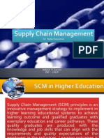 Supply Chain Management for Higher Education