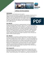 Liftboat Job Descriptions