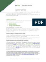 QV11 Certification Program FAQs V1.1