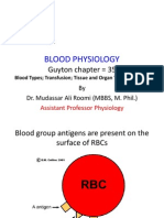 Lecture on Blood Groups,Transfusion, Rh Incompatibility by Dr. Roomi