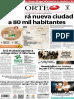 Periódico Norte de Ciudad Juárez edición impresa del 8 abril del 2014
