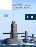 Study into the business of sustaining Australia's strategic Collins Class submarine capability