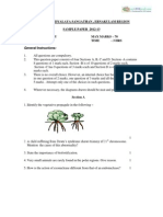 CBSE Class 12 Biology Sample Paper-03 (for 2014)