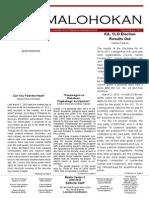 Umalohokan Newsletter 2009-10
