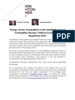 Energy Sector Competition in the Spotlight