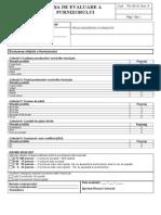 Fisa Formular Evaluare Furnizori