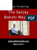 Value Investing - Prof. Sanjay Bakshi's 2014 Interview with Safal Niveshak