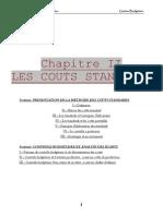 chapitre 2   les coûts Standards