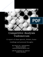 Competitive Analysis Vademecum (by Santagiustina Carlo)