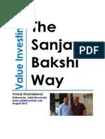 Value Investing - Prof. Sanjay Bakshi's 2012 Interview with Safal Niveshak