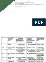 IGNOU BACHELOR Degree Exam Time Table June 2013