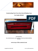 Constructing Your Very Own Sword Display Case