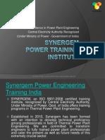 Synergem Power Engineering Training in India