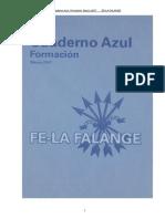 Cuaderno Azul Formacion - FE La Falange