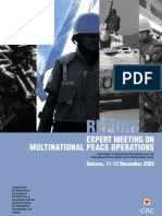 Report of the Expert Meeting on Multinational peace operations