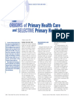 Cueto the Origins of Primary Health Care and Selective Primary Health Care