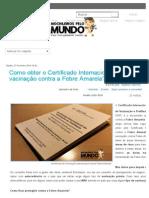 Como obter o Certificado Internacional de vacinação contra a Febre Amarela_ - Mochileiros pelo Mundo