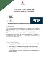 Plan Comunicación, informe actuaciones realizadas