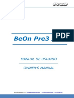 Owner's Manual BeOn Pre3