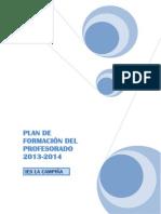 PLAN DE FORMACIÓN DEL PROFESORADO 2013