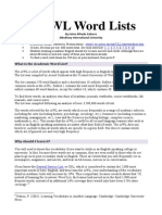 Academic Word List - Student Worksheet 01