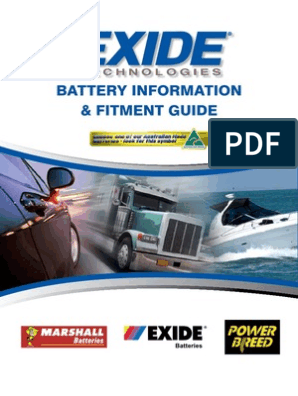 exide_fitment_guide2010 | Battery Charger | Audi