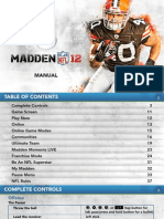 EA Sports Madden NFL 12  Game Manual