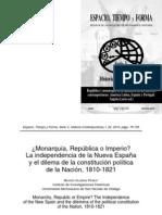 Moisés Guzmán - Independencia Nueva España y dilema de constitución política