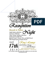 Recognition Night Invitations