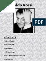Aldo Rossi - The architect
