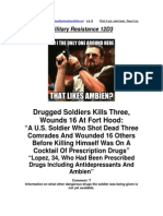 Military Resistance 12D3 Ambien at Fort Hood