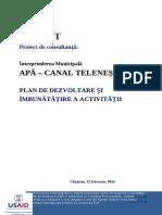 Plan de Dezvoltare IM Apa - Canal TELENESTI Draft Ro