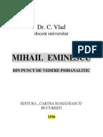 Psihanaliza Lui Eminescu Dr.C.vlad 1936