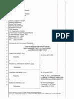 DNI Clapper 2013 Jewel Shubert SSP Unclassified Signed Declaration