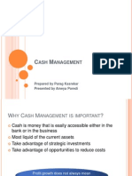 Cash Management Aug2013