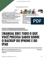 Como Fazer o Backup No iPhone iPad _ Blog Do iPhone