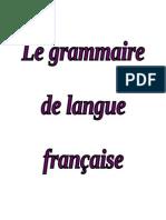 Le Grammaire de Langue Francaise