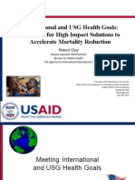 International and USG Health Goals