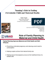 Family Planning's Role in Ending Preventable Child and Maternal Deaths - Katie Taylor, USAID