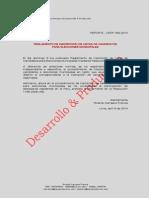 Reglamento de Inscripción de Listas de Candidatos para Elecciones Municipales