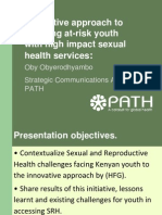 Innovative Approach to Reaching At-Risk Youth with High-Impact Sexual Health Services, Oby Obyerodhyambo - Youth Plenary
