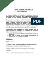 MÉTODOS DE EVALUACIÓN DE INVENTARIOS