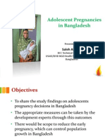 Study on Adolescent Mothers' Pregnancy Decisions in Bangladesh, Saleh Ahmed - Using FP to Prevent High Risk Pregnancies Panel