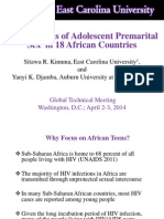 Determinants of Adolescent Premarital Sex in 18 African Countries, Sitawa Kimuna - Youth Panel 2