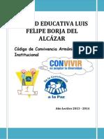 CODIGO DE CONVIVENCIA LUIS FELIPE BORJA DEL ALCAZAR 2014.docx