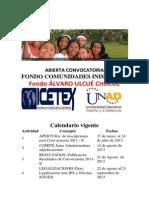 Abierta Convocatoria Fondo Indigena