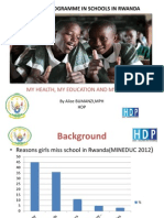 Improving Reproductive Health of Girls through Girls Room Program (GRP) in Rwanda, Alice Bumanzi - Youth Panel 3